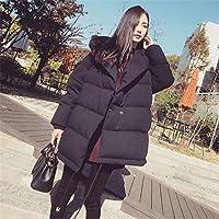 Ispessiscono il cappotto di cotone, grandi Abbigliamento dimensioni, semplice e rilassato, media lunghezza, con cappuccio a maniche lunghe addensare vestiti del cotone signore