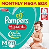 Pampers New Monthly Box Pack Diapers Pants, Medium, 152 Count