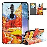 LFDZ Handyhülle für Nokia X71 Hülle,Premium 2 in 1 Abnehmbare PU Ledertasche für Nokia 6.2 Hülle,RFID-Blocker Flip Case Brieftasche Etui Schutzhülle für Nokia X71 Hülle/Nokia 6.2 Hülle,Autumn