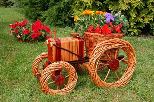 Traktor aus Korbgeflecht, 60cm, Rattan, Weidenkörbe, bepflanzen möglich,Rattan, Weinkörbe, Weidenkorb, Pflanzkorb, Blumentopf, Blumentöpfe, keine Holzschubkarre, Pflanztrog, Pflanzgefäß, Pflanzschale, Blumentopf, Pflanzkasten, Übertopf, Übertöpfe, Pflanztrog, Blumentopf, Holz, Haus und Eingang, Gartendeko, Dekoration Pflanzgefäß, Pflanztöpfe, Pflanzkübel, Pflanzkarre