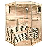 Home Deluxe - Traditionelle Sauna - Skyline XL - Holz: Hemlocktanne - Maße: 210 x 150 x 150 cm - inkl. komplettem Zubehör