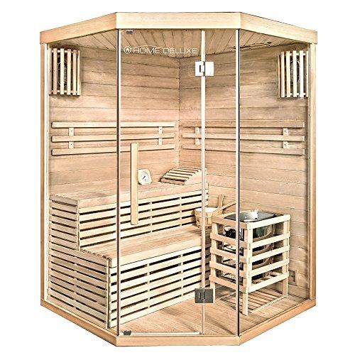 Home Deluxe - Traditionelle Sauna - Skyline XL - Holz: Hemlocktanne - Maße: 210 x 150 x 150 cm -...
