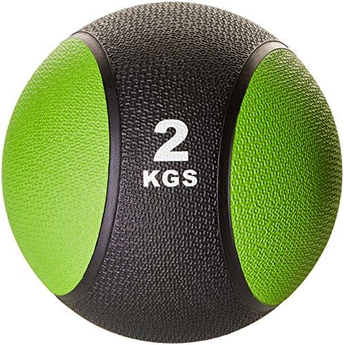 Gorilla Sports Erwachsene Medizinball Gymnastikball Rehaball Fitnessball Gewichtsball, zweifarbig, 2 kg