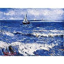 1art1 - Lámina decorativa del Paisaje Marítimo de Vincent Van Gogh