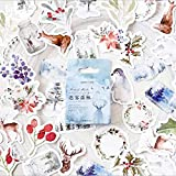 Box New Cute Fog Forest Paper Food Sealing Stickers Craftbooking Décoration Diy Learning Papeterie Stickers