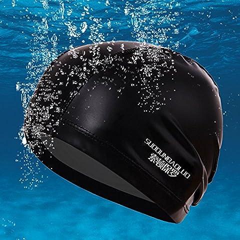 Blueidea® Impermeable PU Tela Proteja Oídos Sombreros de Deportes para Mujeres Hombres Gorras de Nadada Cap Piscina Unisex
