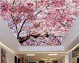 Yosot 3d Hohe Dekorative Malerei Tapeten Schöne Atmosphäre Blue Sky White Cherry Decke Zenith Tapeten Für Wände 3 D-140Cmx100Cm