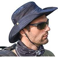 SIYWINA Mens Sun Hat Wide Brim Summer Sun Cap UV Protection Fishsing Hat Foldable Bucket Hat Outdoor