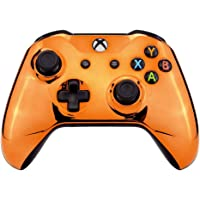 eXtremeRate Chrome Orange Edition Front Housing Shell Faceplate for Xbox One S & Xbox One X Controller (Model 1708)