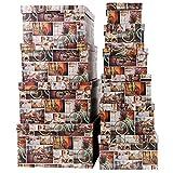 Aufbewahrungsboxen / Schachteln im 10er Set mit Deckel verschiedene Designs (Fahrräder)