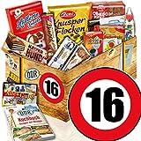 Ossi Paket L | Süssigkeiten Geschenk | Zahl 16 | Jubiläums Geschenk 16