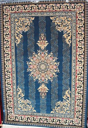 CARPET EXPRESS iranischen maschinell hergestellt Versace Collection Teppiche 1,5Milion Punkte Pro qm, blau, 160 x 230 cm