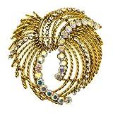 Acosta - oro antiguo y de la vendimia de la trackball - cristal de broche de la joyería de traje