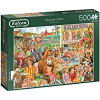 Jumbo Spiele 11174 - Falcon De Luxe Holiday Camp, Puzzles, 500 Teile, XL