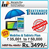Warranty Plus 1 Year Extended Warranty on all Mobiles & Tablets Price Range (35001 to 50000)