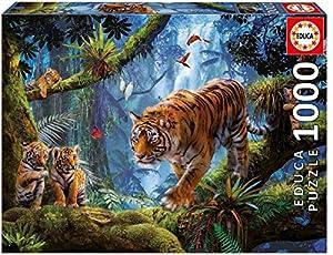 Educa Borrás Puzzle 1000 Tigres En El Árbol, Multicolor, Talla Única (17662)
