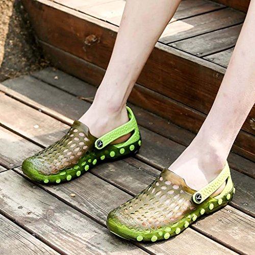 ZXCV Scarpe all'aperto I sandali piatti degli uomini pattino esterno delle scarpe degli uomini Verde scuro