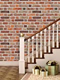 PPD 'Bricks Deep Dark Brown' Peel and Stick (3 Tiles / 5.5 SqFt)