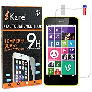 iKare Pack of 2 Tempered Glasses for Nokia Lumia 630, Tempered Screen Protector for Nokia Lumia 630