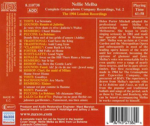 Melba, Nellie: London Recordings (1904)