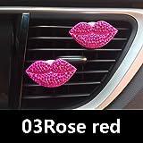 CALISTOUK Auto Lufterfrischer Diffuser Clip Parfüm Clip Lippen Aromatherapie Lufterfrischer Luftreiniger Clip,Rose