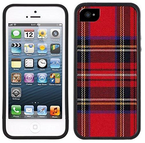 ouucase Tartan écossais rouge pour iPhone 5C Noir DIY HD Housse PC Pour New Design