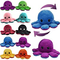 Webby Reversible Big Octopus Plush Stuffed Animal Toy Assorted - 1piece