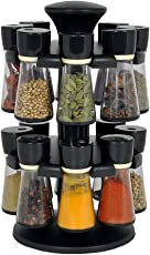 PREMILLIA® Premium Multipurpose Revolving Plastic Spice Rack / Condiment Set - Color May Vary