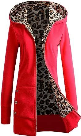 Cappotto con cappuccio e ispessito in peluche di grandi dimensioni per le donne donna manica lunga top