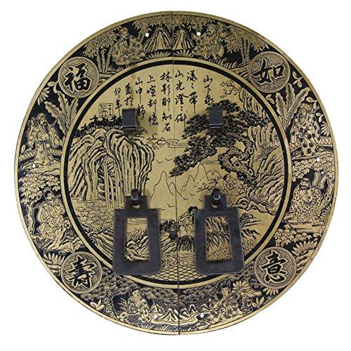 Klopfer,Tür griff kupfer verarbeiten Chinesisch zu behandeln Schranktür messing antik griff möbelbeschläge griff Face plate schraube schrankeinbau 22cm-L
