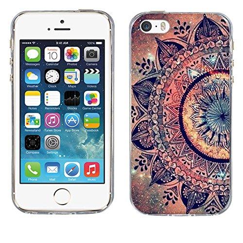 Custodia Apple iPhone 5 5S 5SE, Fubaoda iPhone 5 5S 5SE Bumper Case, Immagine vivida [super luna] Morbida Flessibile Estremamente TPU Gel Sottile Pelle Trasparente Antigraffio Protezione Cover per App pic: 04