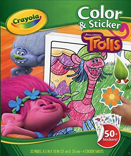 Trolls libro de colorear