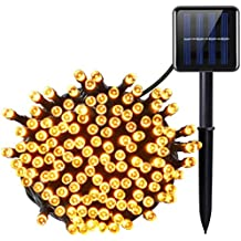 Amir Solar Powered String Lights, (200 LED, 8 Modes) Solar LED String Lights, 72ft/ 22m Solar Fairy String Lights, Waterproof outdoor lights for Garden, Party, Home, Christmas, Patio (Warm White)