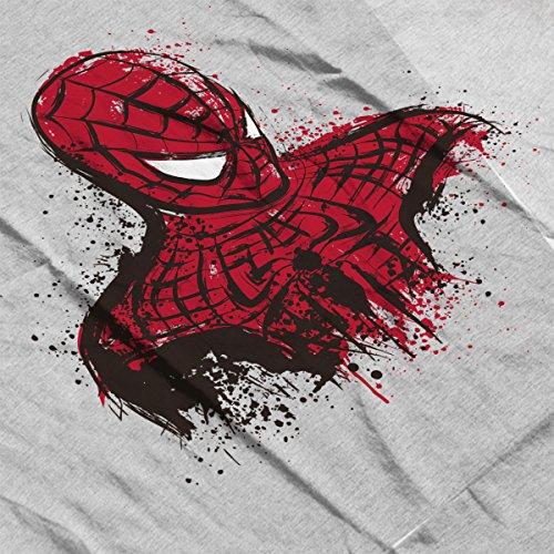 Spider Man Behind The Mask Men's Vest Heather Grey
