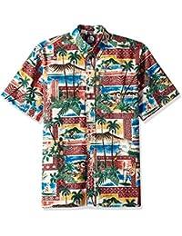 Reyn Spooner Men's Spooner Kloth Classic Fit Full Button Hawaiian Shirt