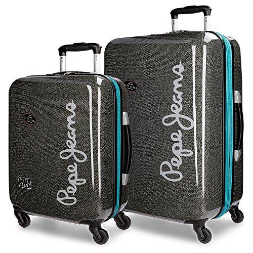 Pepe Jeans Teo Juego de maletas, 67 cm, 100 litros, Gris