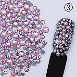 Born Pretty 1 Packung Strasssteine Strass Steinchen 3D Nagel Deko Multi-size Farbig Studs