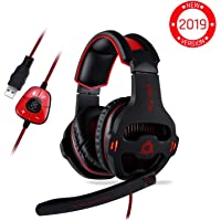 ⭐️KLIM™ Mantis - Micro Casque Gamer - USB 7.1 - Haute Qualité - Ecouteurs Pour Gaming PC PS4 - Noir - Nouvelle Version 2019