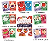 #9: English Essential Flash Cards 100 Cards For Kids child To Learn English cards