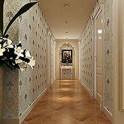 Wasserdicht PVC geprägt Tapete Silhouetten der Zeit Continental Damaskus Wohnzimmer TV Hintergrund Wand Tapete 44th
