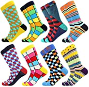 Bonangel Men's Fun Dress Socks-Colorful Funny Novelty Crew Socks Pack,Art S