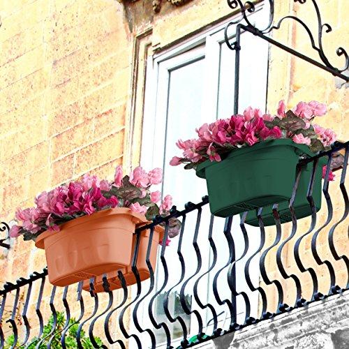 Bama 30230 Fioriera Klunia di 40 cm da balcone, Terracotta - 5