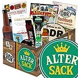 Alter Sack | Geschenkset DDR | mit Schnaps, Bier, Kondomen uvm | GRATIS Aufkleber - Alter Sack