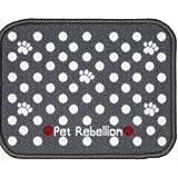 Pet Rebellion Absorbent Dog & Cat Food Mat Dinner Mate Dotty Grey