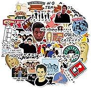 مجموعة ملصقات كرتونية من المسلسل التليفزيوني الامريكي فريندز، 50 قطعة