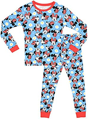 Disney Minnie Mouse - Pijama para niñas - Minnie Mouse - Ajuste Ceñido