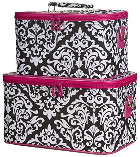 ever-moda-pink-damask-cosmetic-makeup-train-case-2-piece-set-by-ever-moda