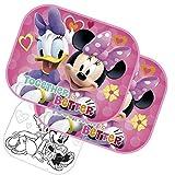 2x Sonnenschutz Auto Sonnenrollo Kinder Baby Sonnenschutz - Minnie Mouse - Minnie & Daisy