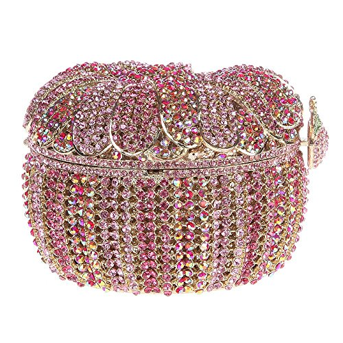 Borsa Da Sera Con Pochette Da Donna Borsa Da Lusso Con Pochette Di Brillantini Con Catene Sostituibili Di Santimon (3 Colori) Rosa
