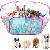 """Dokpav Tienda de Jaula Plegable para Animales pequeños 47.2"""", Cerca Transpirable y Transparente para Mascotas, Parque Infanti"""